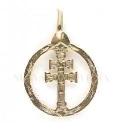 Medalla Cruz Caravaca Oro 1864K18