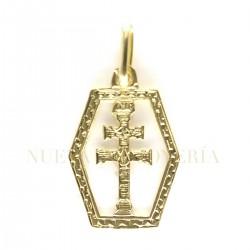Medalla Cruz Caravaca Oro 3655K18