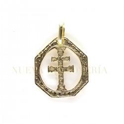Medalla Cruz Caravaca Oro 2679K18