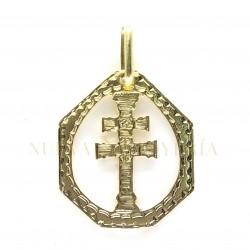 Medalla Cruz Caravaca Oro 2508K18