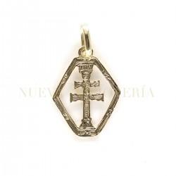 Medalla Cruz Caravaca Oro 2873K18
