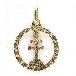 Medalla Cruz Caravaca Oro 3010K18
