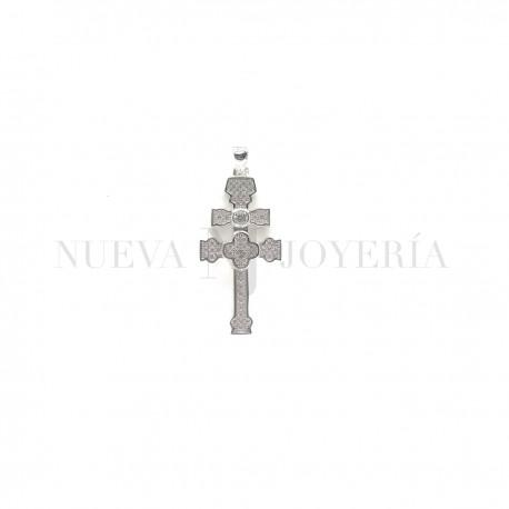 Cruz Caravaca Plata Piedras y Rodio 1221PL