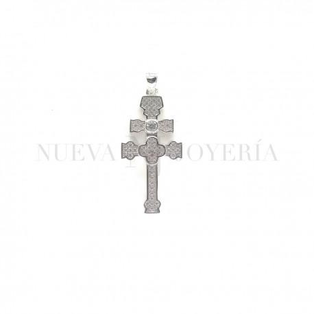 Cruz Caravaca Plata Piedras y Rodio 1212PL