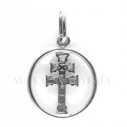 Medalla Cruz Caravaca Oro Blanco 139OB