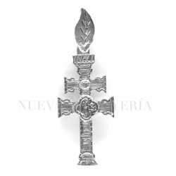Cruz Caravaca Oro Blanco Relieve 1522OB