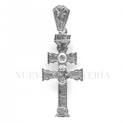 Cruz Caravaca Oro Blanco Relieve 1523OB