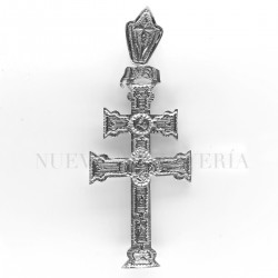 Cruz Caravaca Oro Blanco Relieve 1526OB