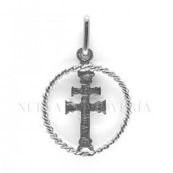 Medalla Cruz Caravaca Oro Blanco 1863OB