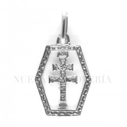 Medalla Cruz Caravaca Oro Blanco 3655OB