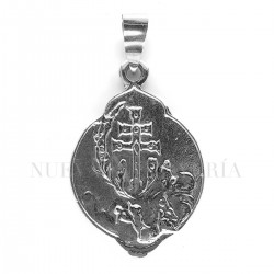 Medalla Cruz Caravaca Oro Blanco 2680OB