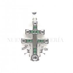 Cruz Caravaca Plata Piedras y Rodio 1340PL
