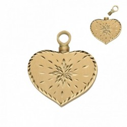 GUARDACENIZAS CORAZON ORO 18 KL - 25X29MM