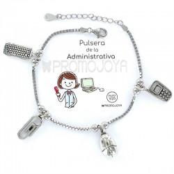 Pulsera Profesión Administrativa Señora Plata