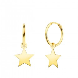 Pendiente Aro Oro Estrella